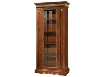 Книжный шкаф для гостиной «Милана 8/1» П396.05 (черешня с золочением)