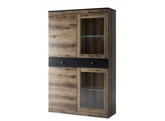 Шкаф-витрина для посуды Джаггер 2V2D1S