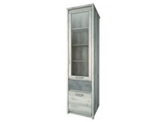 Шкаф-витрина для посуды Джаз 1V1D1S оникс