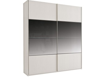 Шкаф-купе для одежды с зеркалом Комфорт 200-1 Z крем вудлайн