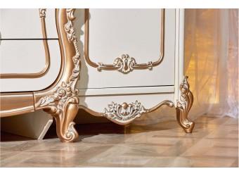 Шкаф 5-ти дверный Орнелла (крем,шампань)