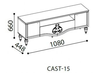 Длинная тумба под телевизор в гостиную Кастелло CAST-15