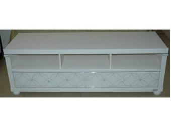 Тумба под телевизор с выдвижными ящиками в гостиную Мира MIRA-07 белая