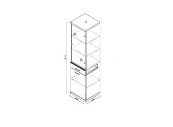 Шкаф для посуды BETA-02