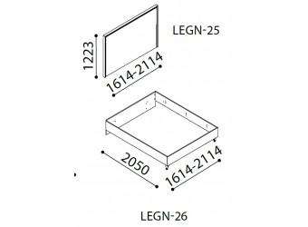Двуспальная кровать Легенда (Legenda) венге 1600/1800
