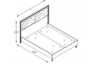 Двуспальная кровать Пальма PALMA-26