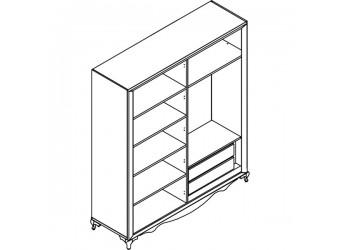 Четырехстворчатый шкаф в спальню Седеф SEDF-29