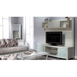 Стенка под телевизор для гостиной Мира MIRA-03 белая