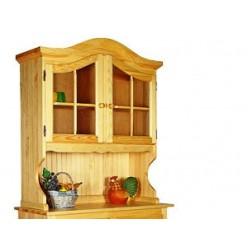 Настенный шкаф-витрина Лотос сосна Б-1076 (сосна натуральная)