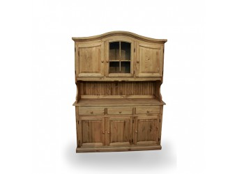 Настенный шкаф-витрина Лотос сосна Б-1077 (искусственное старение)