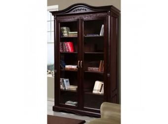 Книжный шкаф-витрина Паола БМ-2128 (горячий шоколад)