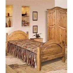 Односпальная кровать Лотос сосна Б-1089-05BRU (брашированный мокко)