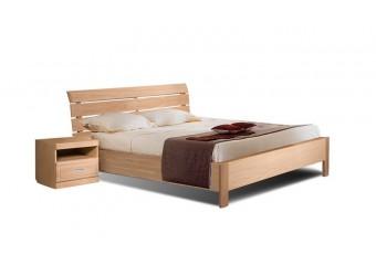 """Двуспальная Кровать 2-16 """"Лайма 6012"""" БМ661, с решетчатой спинкой, с металлокаркасом (разбеленный дуб)"""