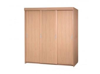"Трехдверный шкаф-купе для одежды ""Лайма 1602"" БМ661 без зеркала (разбеленный дуб)"
