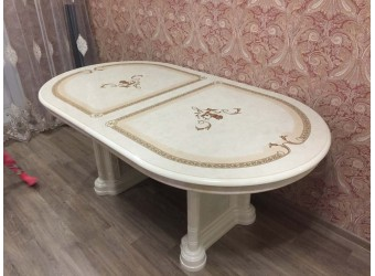 Обеденный стол раздвижной Роза (беж)