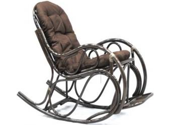 Кресло-качалка Promo 05/17 из ротанга с подножкой