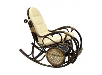 Кресло-качалка 05/10 из ротанга с подножкой сборно-разборное