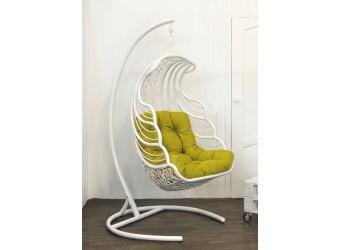 Подвесное кресло Shell Flying Rattan из искусственного ротанга сборно-разборное