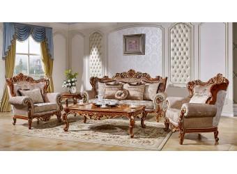 Комплект мягкой мебели для гостиной Магдалена КА-МД орех