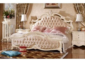 Двуспальная кровать Лоренцо КА-ДК белый жемчуг