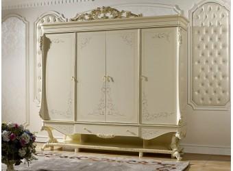 Четырехстворчатый шкаф для одежды Роял КА-ШК слоновая кость