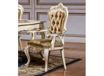 Обеденный стул для гостиной с подлокотниками Магдалена КА-СОП слоновая кость