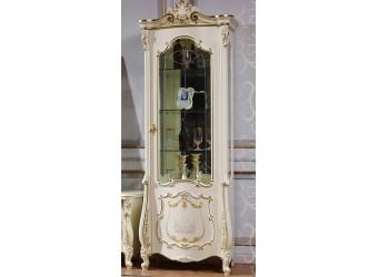 Шкаф-витрина для посуды Магдалена КА-ШВ-П слоновая кость (правая)