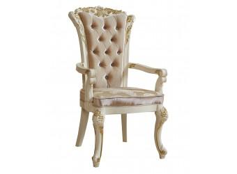 Обеденный стул для гостиной с подлокотниками Роял КА-СОП слоновая кость