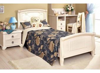 Кровать 1200 с мягкой спинкой (Без основания) Амели ЛД 642.450