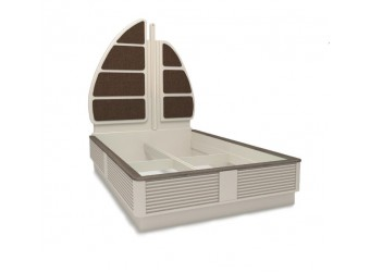 Кровать Калипсо с декоративной спинкой ЛД 509.152