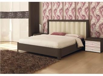 Кровать 1600 с мягкой спинкой и подъемным механизмом Соната