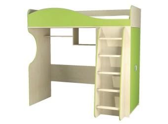 Детская кровать чердак с рабочей зоной и шкафом Комби МН-211-01