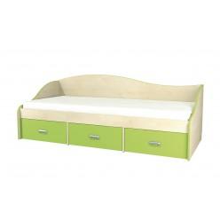 Детская односпальная кровать с ящиками внизу Комби МН-211-02