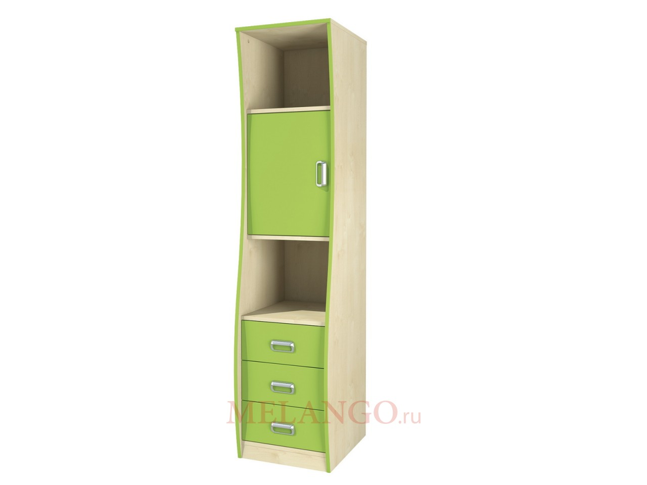 Детский комбинированный шкаф пенал с ящиками Комби МН-211-20