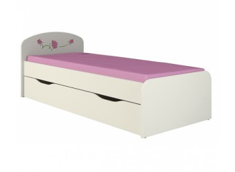 Детская односпальная кровать с выдвижным ящиком для белья Розалия КР-3Д1