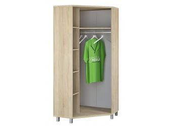 Двухдверный угловой шкаф для одежды Домино Сонома ВК-04-14