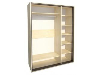 Трехстворчатый шкаф для одежды с зеркалом в спальню Глория МН-210-06