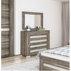 Бельевой комод для спальни Кристалл МН-131-06