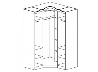 Угловой шкаф Орхидея СП-002-18 (белый)