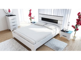 Узкий высокий бельевой комод для спальни Верона МН-024-11