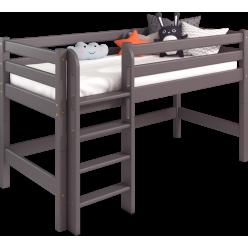 Низкая кровать Соня Лаванда с прямой лестницей вариант 11