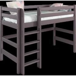 Кровать Соня Лаванда полувысокая вариант 5 с прямой лестницей