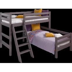 Кровать Соня Лаванда угловая вариант 8 с наклонной лестницей