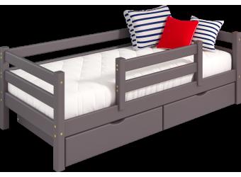"""Вариант 4 Кровать """"Соня"""" Лаванда с защитой по центру"""