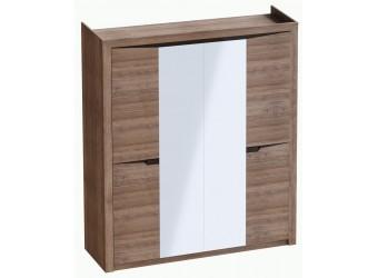 Шкаф для одежды четырехдверный Соренто Дуб стирлинг
