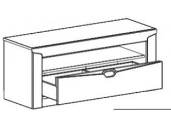 Тумба под ТВ Соренто с ящиком дуб бонифаций