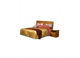 Двуспальная кровать Нинель ММ-167-02 (табак+тп)