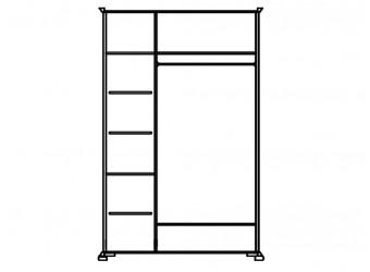 Шкаф для одежды Лика ММ-137-01/03 (медовый дуб+зп)