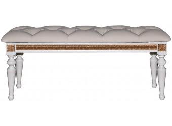 Банкетка «Милана 25» П294.25 (слоновая кость с золочением)
