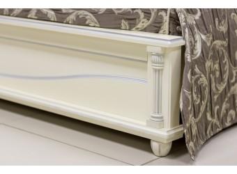 Двуспальная кровать «Валенсия 3М» П254.52 (античная темпера с серебром)